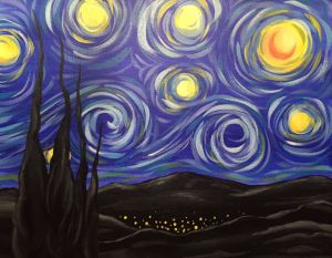 Starry Night and Village