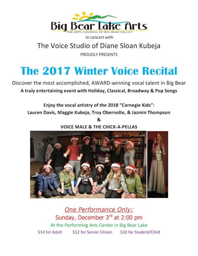 Press Release Winter Voice Recital 2017